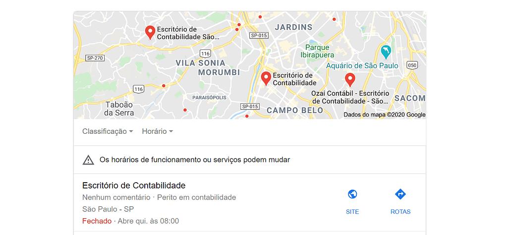 O Google Meu Negócio indica as empresas próximas da sua localização