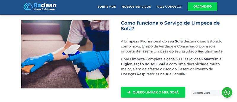 Agência Expert Digital - Site Reclean Limpeza e Higienização 4